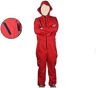 Costume La Casa De Papel, Abito per Adulti in Camera di Carta di Lino Rosso, Costume da Rapinatore La Casa di Carta per Il...