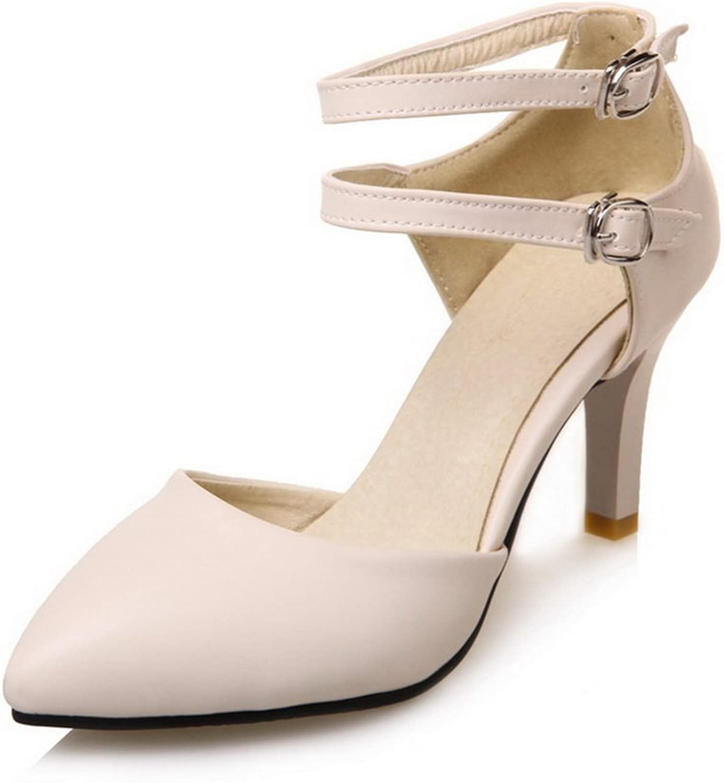 BalaMasa Womens Waterproof High-Heel Hard-Ground Urethane Sandals ASL04908