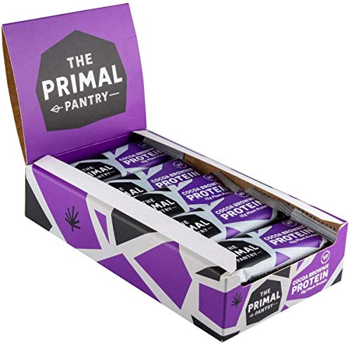 The Primal Pantry Barritas Proteinas - 15x55g - Proteina vegana, 15g Proteina, Barritas Energeticas Ciclismo, sin gluten, 100% Natural, Paleo (Cocoa Brownie)