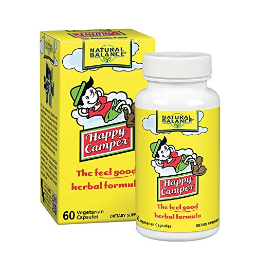 Natural Balance Happy Camper | Feel Good Mood Support and Relaxation Supplement with Kava Kava | 60 VegCaps, 30 Serv.