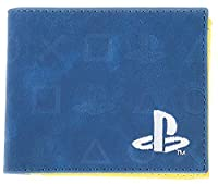 Playstation 財布 Classic Icons Logo All Over Print 新しい 公式 ブルー Bifold