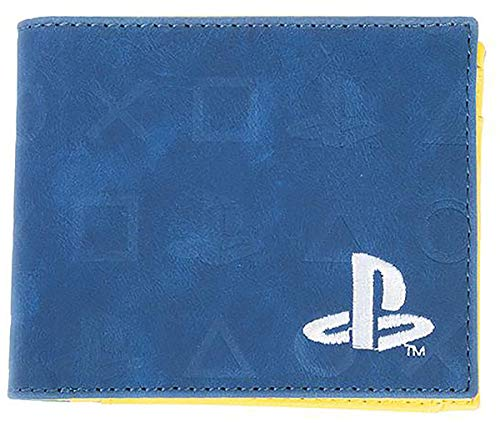 Playstation Icons Allover-Print Bi-Fold Portemonnaie Münztasche 16 cm blau