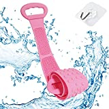 ZC GEL Silicone Bath Body Brush Towel (31.5IN), Exfoliating Long Silicone Body Back Scrubber, Easy to Clean, Lathers Well, Eco-Friendly, Deep Clean & Invigorate Your Skin(Pink)