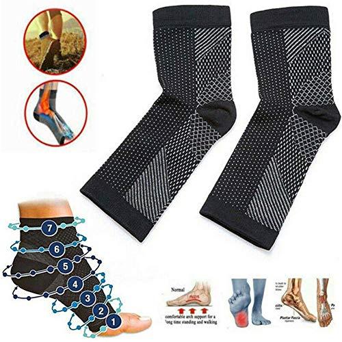 Dr. Sock Soothers Socken Anti Fatigue Compression Fußhülsenstütze Brace Socke gegen Plantarfasziitis Achilles Knöchel Anti Fatigue (3 Paar, L/XL)