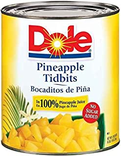 PINEAPPLE, TIDBIT IN JUICE CANNED CHOICE, Package of 6
