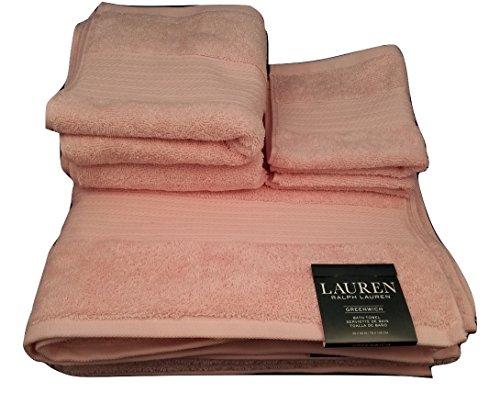 Ralph Lauren Greenwich Handtuch-Set, 6-teilig, 2 Badetücher, 2 Handtücher, 2 Waschlappen, Rosa