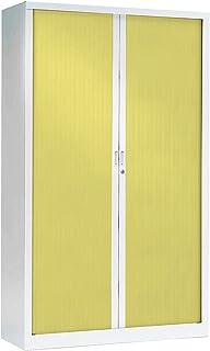 Armoire Monobloc à rideaux   Blanc   Anis   HxLxP 1980 x 1200 x 430   Certeo