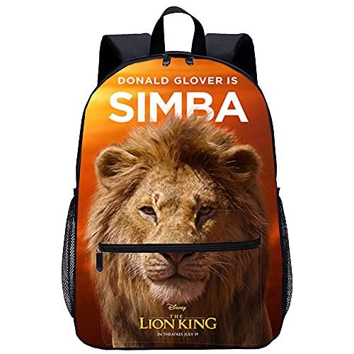 3D-gedruckter Rucksack Der König der Löwen: Simba Herren Damen Kinder Outdoor Wanderrucksäcke 45x30x15cm Freizeitrucksack