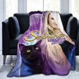 TECHSOURCE Sa-bri-na The Teenage Witch Ultra-Soft Micro Fleece Blanket Flannel Throw Blanket Fleece Blankets All Season Light Weight Warm Blanket for Couch Sofa Bed , Black,80'X60'