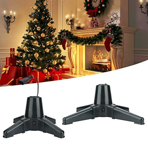 Redxiao 【𝐅𝐞𝐥𝐢𝒛 𝐍𝐚𝒗𝐢𝐝𝐚𝐝 𝐝𝐞 𝐑𝐞𝐠𝐚𝐥𝐨】 Soporte para árbol de Navidad, Base giratoria eléctrica de 360 Grados, estantería de Soporte para árbol para decoración del hogar(50cm)