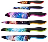 Cosmos Kitchen Knife Set in Gift Box - Color Chef Knives - Cooking Gifts for Husbands and Wives, Unique Wedding Gifts for Couple, Birthday Gift Idea for Men, Housewarming Gift New Home for Women