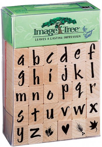 ek tools Alphabet Stamps Lowercase Brush Letters