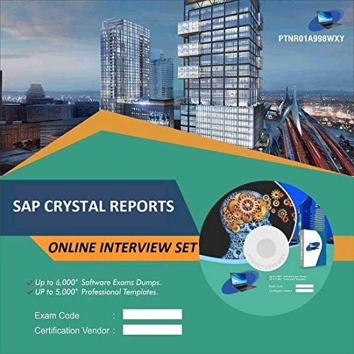 SAP CRYSTAL REPORTS Complete Unique Collection Interview Video Training Solution Set (DVD)