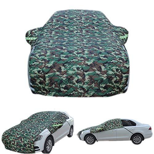 Liliguun Universele halve autoafdekkingen, winter plus katoen, verdikte helder, waterdichte regen sneeuw auto paraplu camouflage, voor hatchback, limousine SUV