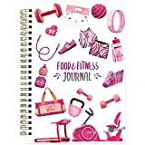 Food and Fitness Journal Diary Workout Wellness Log Notebook Planner Weight Loss Diet Meal Exercise Training Health Tracker 6.1' x 8.5'