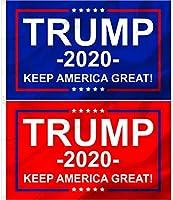 Trump Nation 2020 - No More BS - Keep America Great - プレミアム芝生ウィンドウフラッグ 3x5 (2、トランプ2020 - レッドブルー)