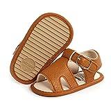 Babelvit Infant Baby Girl Boy Sandals Comfort Premium Summer Outdoor Beach Shoes with Flower Bowknot Anti Slip Rubber Sole Newbron Toddler Prewalker First Walking Shoes