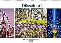 Duesseldorf - Duesseldorfer Rheinspaziergang (Wandkalender 2022 DIN A2 quer): Ausdrucksvolle Ansichten entlang der Duesseldorfer Rheinpromenade (Monatskalender, 14 Seiten )