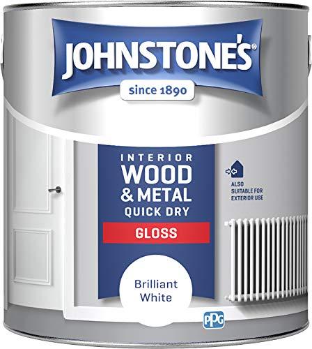 Johnstone's 423317 Quick Dry Gloss, Brilliant White, 2.5 Litres