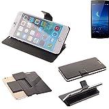K-S-Trade® Handy Schutz Hülle Für Oppo Find 7 Flip Cover Handy Wallet Case Slim Bookstyle Schwarz