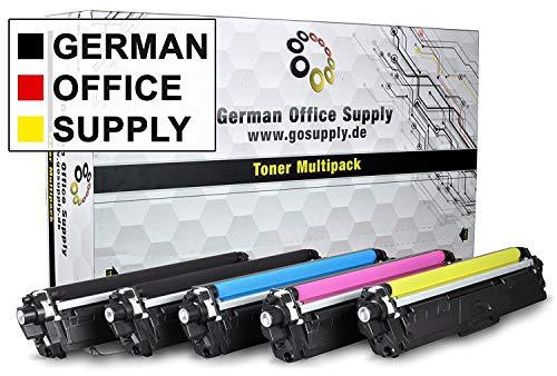 German Office Supply 5 toner compatibel met Brother TN-241 TN-245 Brother DCP-9022CDW MFC-9142CDN 9342CDW 9332CDW HL-3150CDW - TN-241BK TN-245C TN-245M TN-245Y, Black Cyan Magenta Yellow