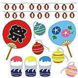 夏☆シール式ウォールステッカー summer 夏休み 祭り ひまわり 海 太陽 SURF 飾り 60×60cm 夏祭り うちわ かき氷 ヨーヨー 016949