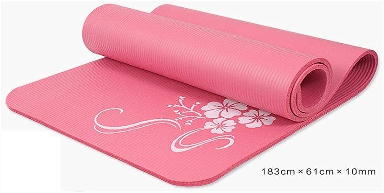 Caoyu Sport und Fitness Professionelle Yogamatte Rutschfeste verlngerte Yogamatte   3 mm weiche und geschmacklose Yogamatte Sport-Fitness-Matte (Farbe   Blau)
