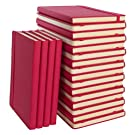 """Simply Genius (20 Pack) A5 Hardcover Leatherette Journals to Write in for Women, Faux Leather Journal for Men, Writing Journal Notebook Lined, 192pg Ruled, 5.7"""" x 8.4"""""""