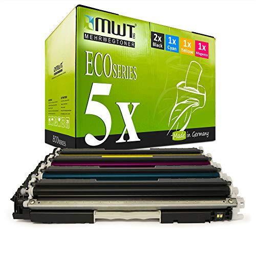 5X MWT Remanufactured Toner für HP Color Laserjet Pro CP 1021 1022 1023 1025 1026 1027 1028 nw ersetzt CE310A-13A