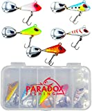 Paradox Fishing Jig Spinner 5er 6g Set Spin Jig zum Barsch Angeln Barsch Köder Zander Köder Hecht Köder Bleikopfspinner Spinnerbait Spinner Angeln Chatterbait – optimaler Barschköder