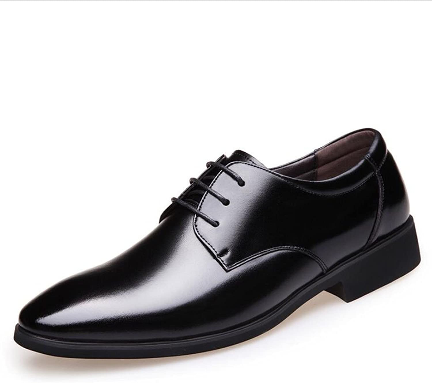 Gfp 2018 The New Men's Leather shoes Formal Business Men's shoes Leather Work Comfort Lace-up Office & Career Party & Evening Pointed Lace up shoes