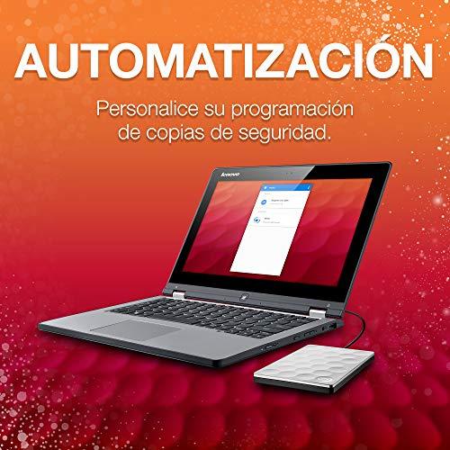 Seagate Backup Plus Ultra Silm 1 TB Disco duro externo portátil HDD, Platino, USB 3.0 para PC y Mac, 2 meses de suscripción Adobe CC Photography (STEH1000200)