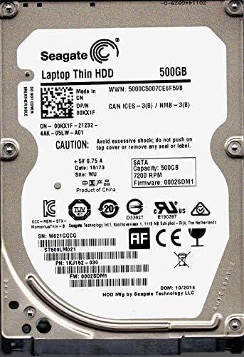 Seagate ST500LM021 P/N: 1KJ152-030 F/W: 0002SDM1 WU W62 500GB