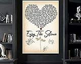 Enjoy The Silence Lyrics Poster, Depeche Mode Song Music