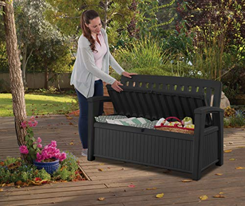 Koll Living Gartenbank/Aufbewahrungsbox/Auflagenbox - 227 Liter - Deckel belastbar bis 272 KG - Belüfteter Innenraum - kein übler Geruch oder Schimmel - Modell 2020 - 3