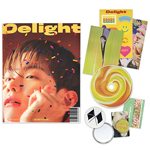 EXO BAEKHYUN 2nd Mini Album - Delight [ HONEY ver. ] CD + Booklet + Folded Poster(On pack) + Postcard + Message Card + Sticker + Photocard + OFFICIAL POSTER + FREE GIFT / K-POP Sealed