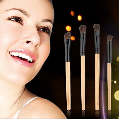 CUTICATE 4pcs Maquillage Outils Cosmétiques Mis Fard à Paupières Fard à Paupières Fondation Fond De Teint