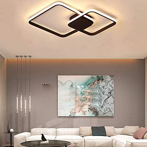 Techo de la cámara cuadrada lámpara regulable 54W 3000K-6500K blindaje metálico del color acrílico luz de la lámpara de techo vida de la lámpara brillo control remoto/ajustable comer pa.