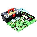 BILXXY Science Lab Kits de educación de experimentación de magnetismo de Electricidad básica, Kit de iniciación de Aprendizaje de Circuito eléctrico de física de Circuito básico niños Junior Senior