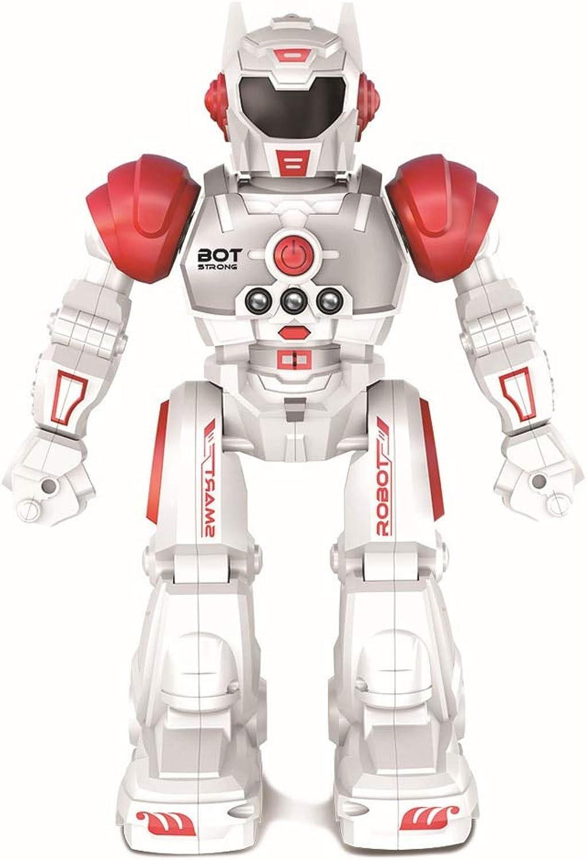 Generic Remote Control Smart Program Intelligent Robot Walk Slide Dance Music Talk Demostration Interactiv Gesture Inductive Warrior Toy Red
