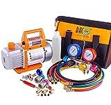 BACOENG Professional Vacuum Pump & Manifold Gauge Set - HVAC...