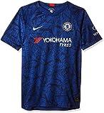NIKE CFC Y Nk BRT Stad JSY SS Hm Camiseta Fútbol, Unisex niños, Rush Blue/(White) (Full Sponsor), XS