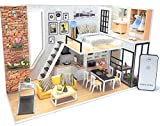 DIY Miniature Dollhouse Kit with Remote Control - Tiny House Building Kit - with Tools Dust Cover Music Box - Build Miniature Dollhouse Furniture and Mini House - Craft Kits for Adults