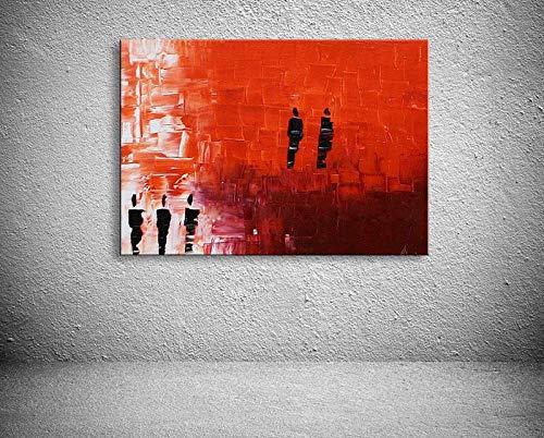 DMPro schilderij op canvas modern Best Art White Figuratief schilderij 50x60cmx1 / zonder lijst