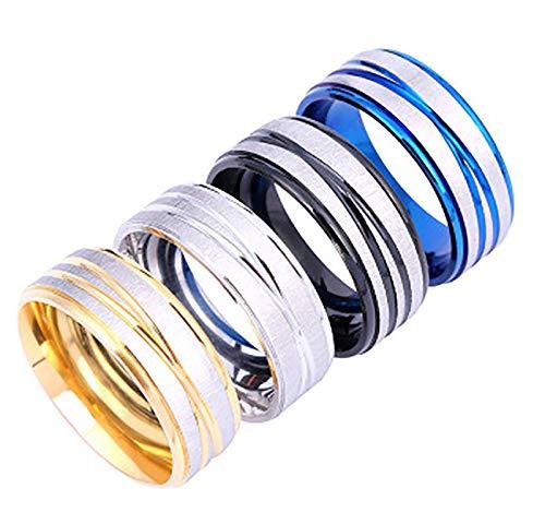 LONG-X Magnétique Minceur Anneau magnétique Perte de Poids Anneau Outils Fitness réduire Le Poids Anneau chaîne Stimulant Acupoints Gallstone Anneau,Bleu,18mm