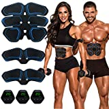 MEILYLA Muscle Toner Abdominal Toning Belt for Men Women ABS Trainer Portable Unisex Fitness Training Gear Home Office Exercise Blue