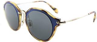 MIU MIU occhiali da sole pantos ponte in metallo opaco azzurro MU 51SS VA71A1 49
