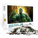 Juego de rompecabezas The Incredible Hulk Anime Jigsaw Puzzles Juego de 500 piezas Adultos Adolescentes DIY Juguetes de entretenimiento para el hogar 52x38cm