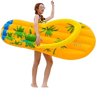 Flip Flop Pool Float for Adults, Hamkaw Giant Inflatable Flip-Flops Floating Row with Rapid Valves & Double Insyrance - Portable Fun Pool Lounger Swimming Rafts Toys for Summer Beach Party