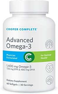Sponsored Ad - Cooper Complete - Advanced Omega 3 - Fish Oil Supplement, Concentrated EPA + DHA Omega-3 Fatty Acids 1400 m...